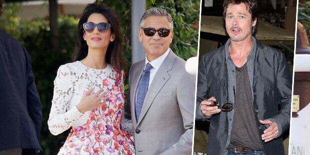 Clooney-Hochzeit: Wo steckte Brad Pitt?