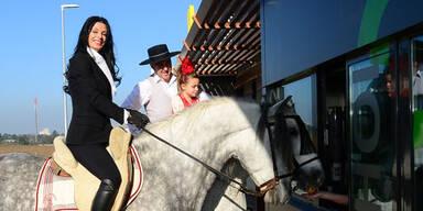 Sonja Klima: Charity am Pferd
