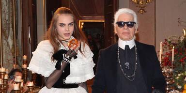 Karl Lagerfeld & Cara Delevingne in Salzburg