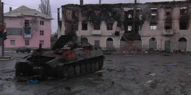 Rebellen nehmen Stadt in Ukraine ein