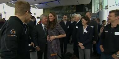 Herzogin Kate mit Babybauch