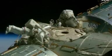 Außen-Arbeiten an der ISS