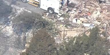 Gas-Explosion zerstört Haus