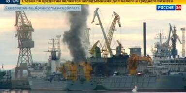 Russisches Atom U-Bot brennt