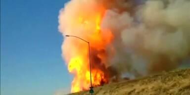 Kalifornien: Gas-Pipeline explodiert