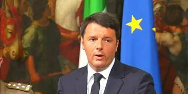 Regierungschef Renzi nach Flüchtlingskatastrophe