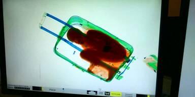 Junge wird in Koffer entdeckt