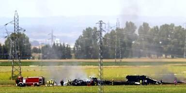 Militärmaschine in Spanien abgestürzt