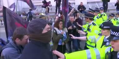 Proteste gegen Premier Cameron
