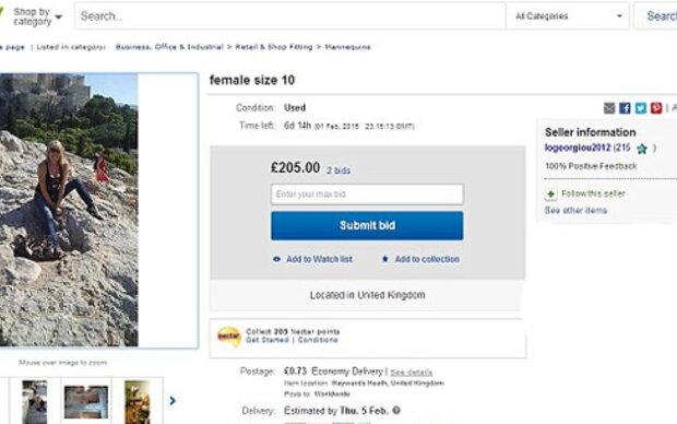Britin versteigert sich selbst auf eBay