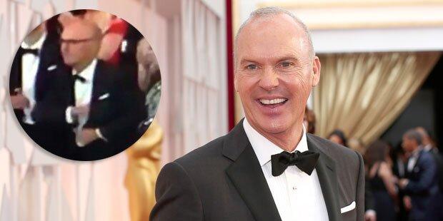 Michael Keaton steckt Dankesrede ein
