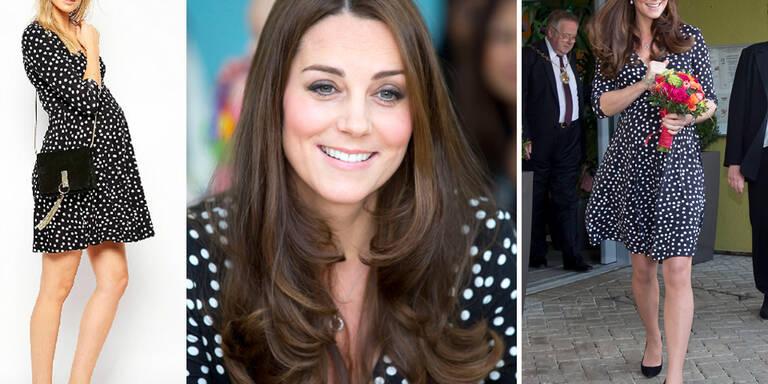 Herzogin Kate trägt 50-Euro-Kleid