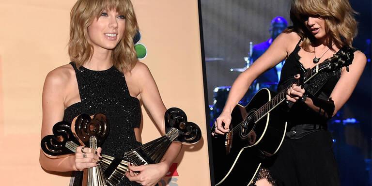 Taylor Swift lässt Strapse blitzen