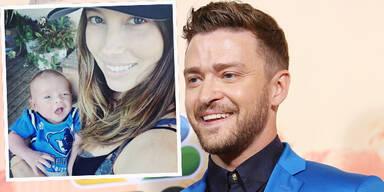 Justin Timberlake zeigt Sohn Silas & Jessica Biel