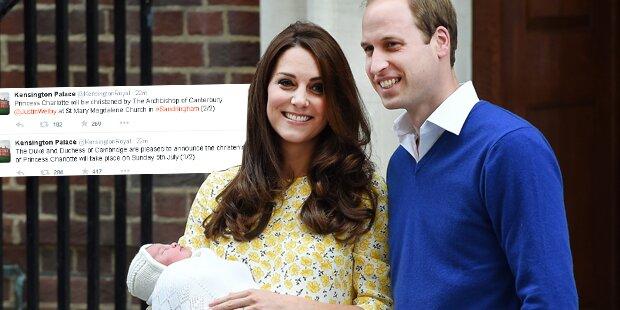 Prinzessin Charlotte: Taufe am 5. Juli