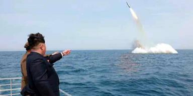 Nordkorea testet U-Boot-Rakete