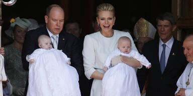 Fürst Albert & Fürstin Charlène mit Prinz Jacques und Prinzessin Gabriella