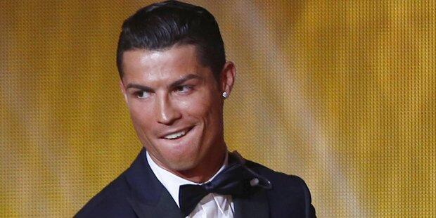 Cristiano Ronaldo: Pinkel-Verwarnung