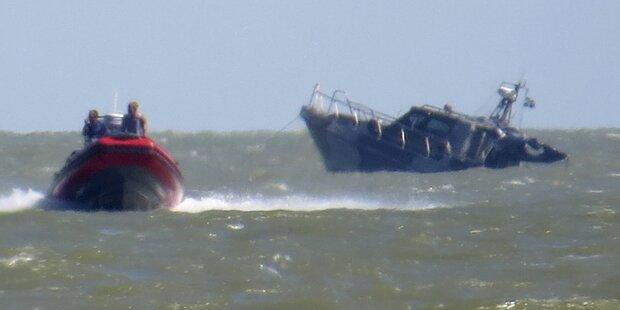Ukrainisches Patrouillenboot sinkt nach Explosion