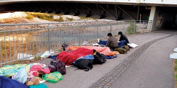 Österreich: 3.000 Flüchtlinge ohne Bett