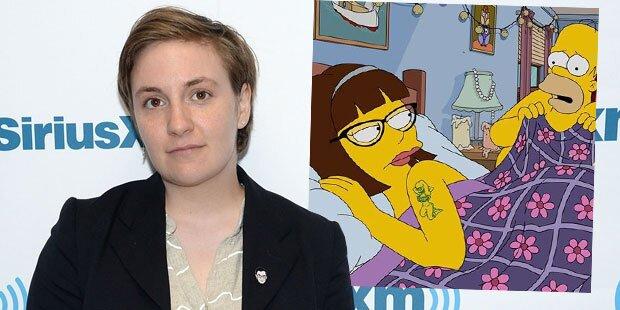 Lena Dunham: Im Bett mit Homer Simpson
