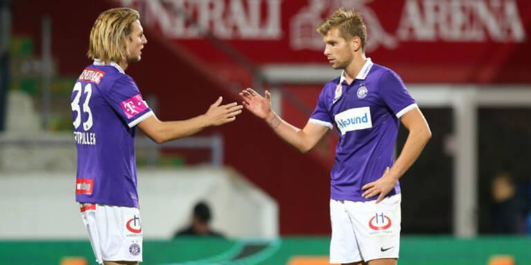 Austria stieß mit 1:0 gegen WAC auf Rang drei vor