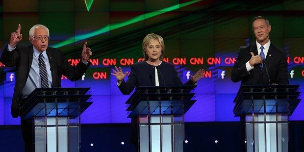 4 Männer gegen Hillary Clinton