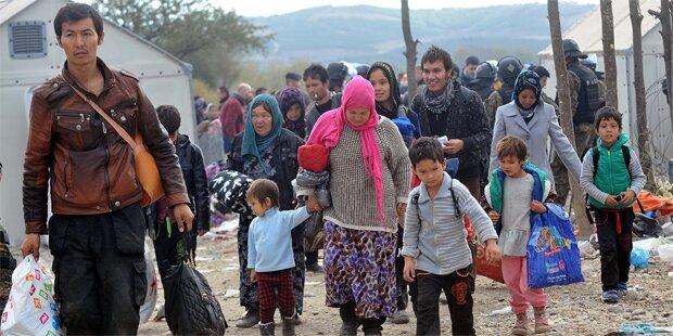 Erst ein Zehntel der Flüchtlinge ist angekommen