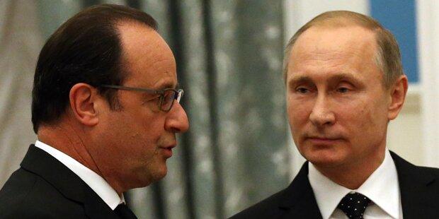 Putin und Hollande begrüßen Briten-Angriffe