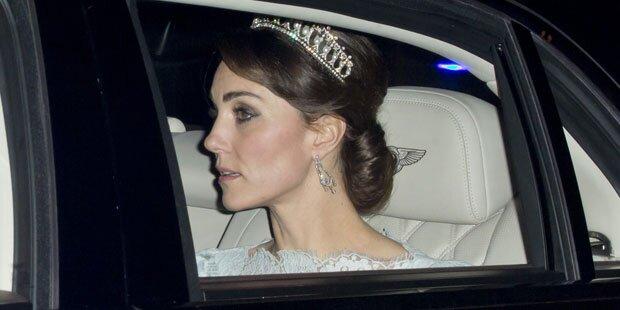 Herzogin Kate trägt Dianas Tiara