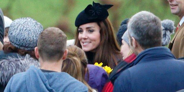 Kate mischt sich unter die Leute