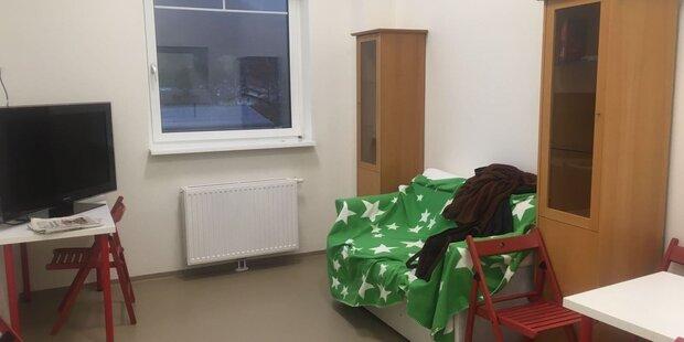 Bettler und Obdachlose in einer Unterkunft