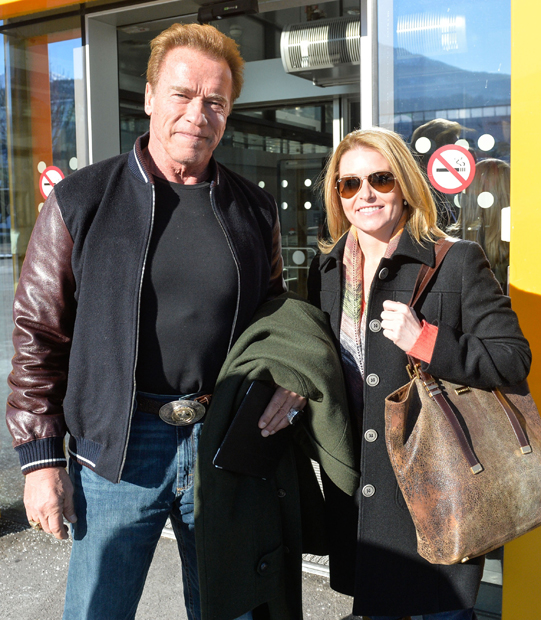Arnold Schwarzenegger & Heather Milligan in Innsbruck
