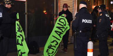 Demonstranten sorgten für Schreckmoment