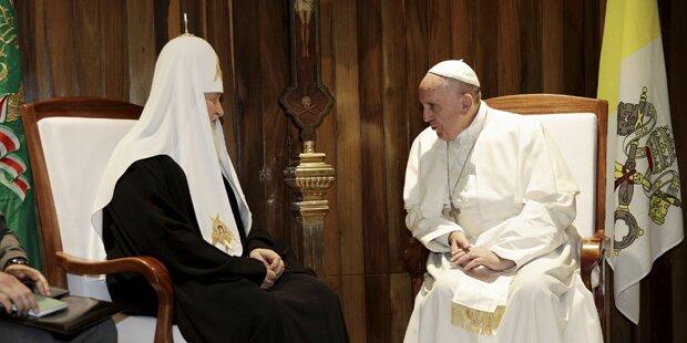 Papst Franziskus traf russischen Patriarch Kirill