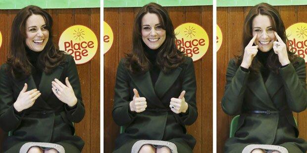 Herzogin Kate lacht sich kaputt
