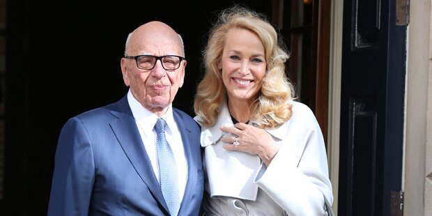 Jerry Hall & Murdoch sind verheiratet