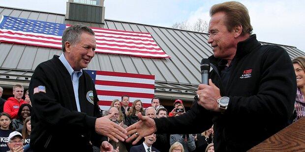Arnie steigt in US-Wahlkampf ein
