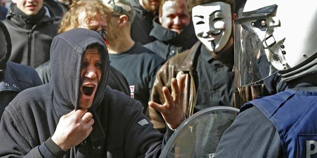Brüssel Nazi Demo