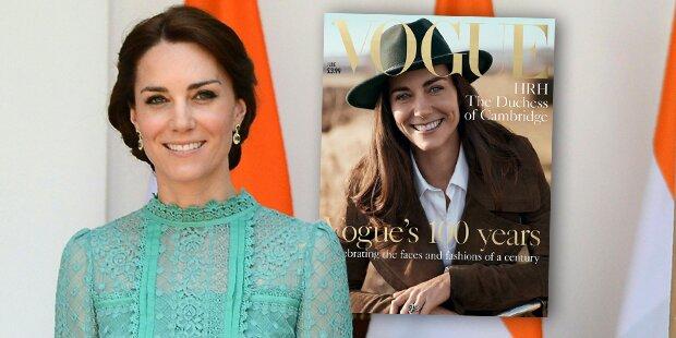 Herzogin Kate auf dem Cover der Vogue