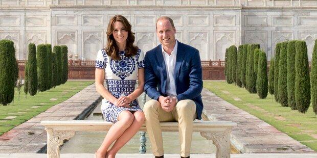 William & Kate stellen Diana-Bild nach
