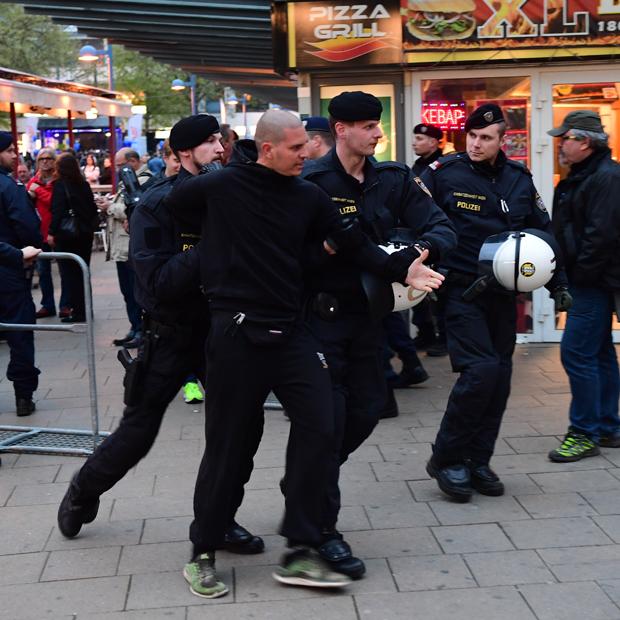 Asyl-Demo in Floridsdorf