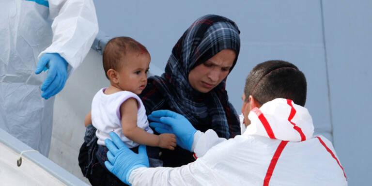 Flüchtlingsbaby auf Rettungsschiff geboren
