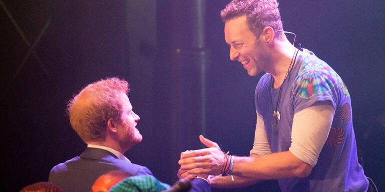 Coldplay spielten für Prinz Harry