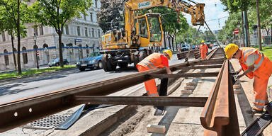 Baustelle Universitätsring Wiener linien