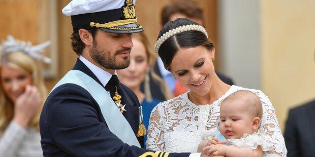 So schön war die Taufe des Schweden-Prinzen