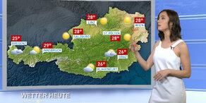 Das Wetter heute: überwiegend sonnig