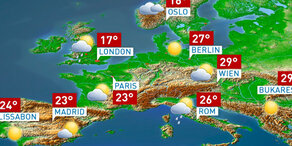 Die Wetterprognose für Europa