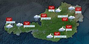 Wetter für Österreich