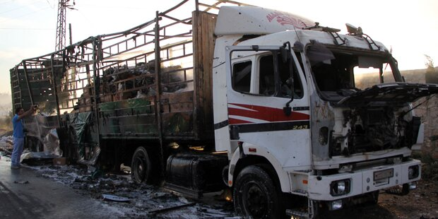 Moskau: Hilfskonvoi nicht von Russland zerstört